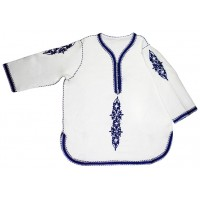 White Tunic with Rbati blue Embroidery