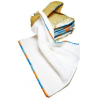 Set of 6 Cotton Towels Embroidered in Silk Thread