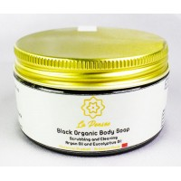 Organic Black Soap with Eucalyptus 3.53 oz. Best Exfoliating !